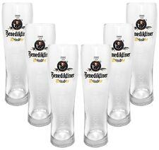 Benediktiner Weissbier Alkoholfrei Glas Gläser-Set - 6x Biergläser 0,5l geeicht