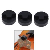 3x Violin accessories round rubber violin mute fiddle silencer asUUFKO DS