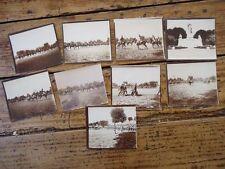 RARE - LOT 9 PHOTO ECOLE MILITAIRE SAINT CYR CAVALERIE UNIFORMES 1900 ST CYR