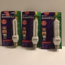 Lot Of 3 Maxlite Economax 15 Watt Energy Saving Lamp