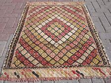 "Small Vintage Turkish Kilim Rug,Door Mat,Tapis 37,7""x46,4"" Area Rug, Carpet"
