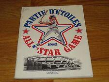 1982 ALL STAR Program MONTREAL EXPOS Stadium DAVE CONCEPCION MVP w/ BB Cards