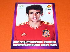 294 JAVI MARTINEZ ATHLETIC CLUB ESPAGNE ESPAÑA  FOOTBALL PANINI UEFA EURO 2012