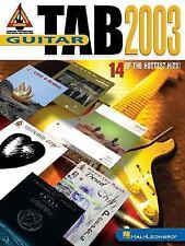Guitar Tab 2003: 14 of the Hottest Hits!, Hal Leonard Corp., Excellent Books