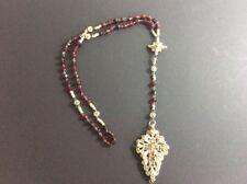 Antiker Rosenkranz  Mit Granat Perlen