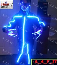 Party Halloween Rave Dance GLOWY STICK FIGURE COSTUME. USA