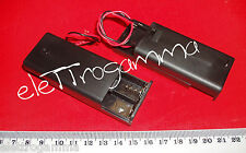 contenitore x 2 stilo AA porta pile batterie portapile portabatterie + on/off