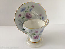 Royal Standard China England 1494 Blue Lavender Flowers Tea Cup & Saucer Set