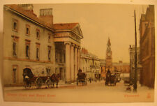 1910 Era Derrys Clock and Royal Hotel, Plymouth, England Postcard