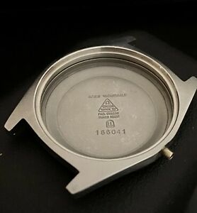 Omega Watch Case NOS stainless steel 166.041 silver Geneve Mint!