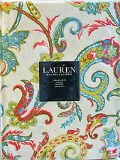 Ralph Lauren Cotton Tablecloth Izmir Lime Coral Teal Cream 60 x 84 - NEW