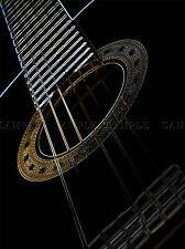 GUITAR STRINGHE AL NEON luminosi inverso Strumento Musica stampa poster foto bmp275a