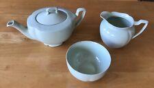 More details for vintage johnson brothers greendawn tea pot, milk jug and sugar bowl