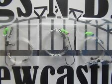 Sea fishing Rigs x 3: Heavy Winter Clipped Pulleys 5/0 Professional sea rigs