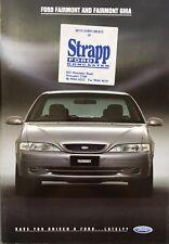 1995 Ford EF Fairmont Ghia Brochure Tickford Falcon