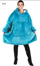 Catalonia Oversized Hoodie Fleece & Sherpa Blanket Sweater Adult Color Sea Blue