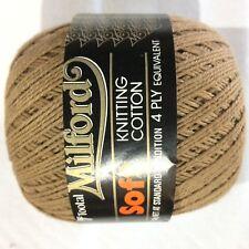 2 x Milford Cotton 4 PLY 50g BROWN #6263 Dye Lot 79373