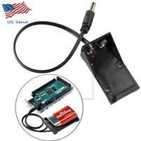 PP3 9V Battery Holder Clip Case Box 5.5*2.1mm for Arduino UNO R3, Arduino Uno