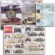 """Echelon FD T35016, 1/35 Decals pour de l'armée américaine M1A1HA Abrams dans """"L' Opération Iraqi FR"""