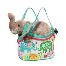 Douglas Toys Happy Elephant Sassy Sak Tote Bag with Elephant, 7""