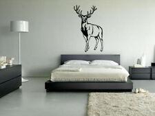 Wall Vinyl Sticker Decals Mural Kids Animal Deer Buck Elk Cute Horns (Z079)
