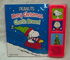 Peanuts MERRY CHRISTMAS, CHARLIE BROWN HARDCOVER BOARD BOOK WITH SOUND New
