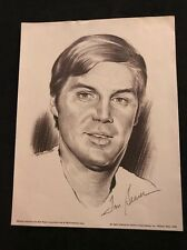 1974 TOM SEAVER ALL-STAR PORTRAIT LITHOGRAPH PRINT BY CHARLES LINNETT