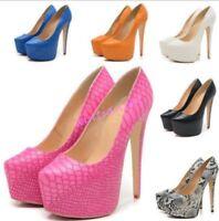 Autumn Lady Womens Clubwear Stilettos High Heels Platform Sexy Party Shoes Pumps