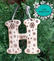 Personalised Letter Christmas Decoration, Baubles, Christmas Tree, Family Bauble