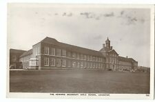 Leicester; Newarke Secondary Girls School RP PPC, 1958 PMK, By AW Holmes