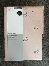 Marks & Spencer Margo Pink Dachshund Sausage Dog Super King Duvet Cover Set New