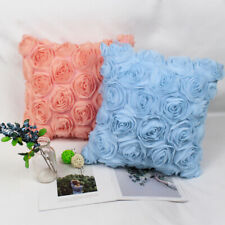 3D Chiffon Rose Flower Throw Pillow Cushion Case Cover for Sofa Seat Cover 1pc