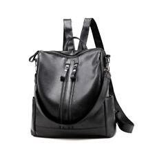 Women Ladies Girl PU Leather Backpack Satchel Shoulder Handbag School Bag Black