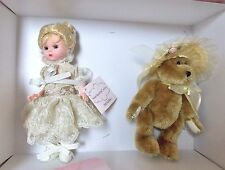 "MADAME ALEXANDER DOLL 8"" BENT KNEE WENDY - ANTIQUE CHAOS THE BEAR AND WENDY"