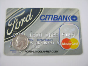 Vtg FORD CREDIT CARD Gas Oil Service Station 1995 Petroliana General Store CITI