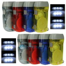 4PCS Hand Crank All-Purpose LED Camping Flashlight W Squeeze Powered Rechargeble