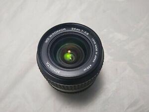 Minolta 24mm 2.8 MD Lens