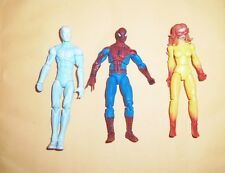 Marvel Universe 3.75 Amazing Friends set Firestar Spiderman & Iceman complete