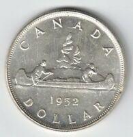 CANADA 1952 FWL VOYAGEUR SILVER DOLLAR KING GEORGE VI CANADIAN SILVER COIN