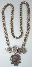 """Victorian Antique Art Nouveau Necklace Pendant Pin Locket 9KT Yellow Gold 20.5"""""""