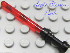 NEW Lego Star Wars Minifig Trans RED LIGHT SABER Minifigure Weapon w/Black Hilt