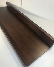 "Pottery Barn Holman Handmade Floating Shelf, 36"" Espresso Wall Mount Wood NOB"