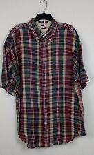 Men's TOMMY HILFIGER SHIRT Size XL LINEN/COTTON  W/EMBROIDERY LOGO  (RAB2T)