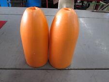 "2- Spongex Orange Lobster Crab Pot  Bouys 5"" x 11"" Bullet Style"