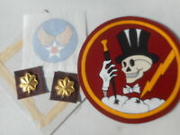 WWII USAAF SKULL TOP HAT 95 TH FIGHTER SQDN 82 Group With Transfer Decal
