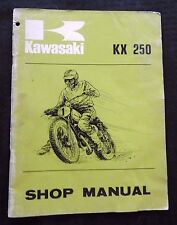 1973 GENUINE KAWASAKI 250 KX250 DIRT BIKE MOTORCYCLE REPAIR SERVICE SHOP MANUAL