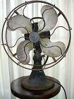 1920s EMERSON 12'' Model 29646 Brass Blade 3-Speed Oscillating Fan / Works!