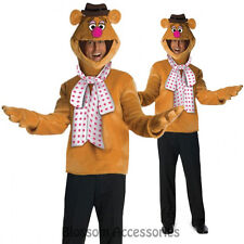 C948 The Muppets Fozzie Bear Mens Licensed Halloween Fancy Costume + Headpiece