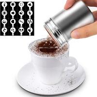 Kaffee Schablone Gewürzstreuer Kakao Cappuccino Streuer 16 Set Schaumschablone