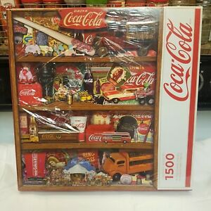 "NEW ~ Coca Cola Puzzle Springbok 1500 Pc 28.75"" X 36"" Coke Collector Made in USA"